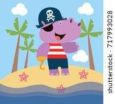 cartoon animal activities... | Shutterstock .eps vector #717993028