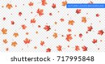 autumn background. autumn... | Shutterstock .eps vector #717995848