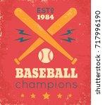 vector vintage poster for... | Shutterstock .eps vector #717996190