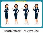 set of elegant business women... | Shutterstock .eps vector #717996223