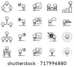 set of cartoon simple line... | Shutterstock .eps vector #717996880