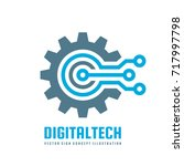 digital tech   vector business... | Shutterstock .eps vector #717997798