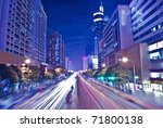 shenzhen  china at night | Shutterstock . vector #71800138