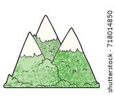cartoon mountains | Shutterstock .eps vector #718014850