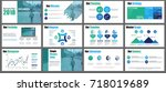 blue and green business... | Shutterstock .eps vector #718019689