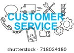 simple clean conceptional... | Shutterstock .eps vector #718024180