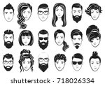 vector illustration of men with ... | Shutterstock .eps vector #718026334