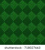 winter christmas x mas knit... | Shutterstock . vector #718027663