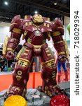Small photo of Bangkok, Thailand. - August 28, 2017 : HulkBuster or Hulk Buster, Marvel super heroes stand for promote movie at Bangkok, Thailand.