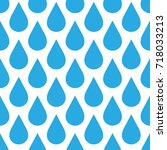 blue rain drop seamless pattern ... | Shutterstock .eps vector #718033213