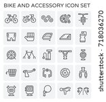 vector line icon of bicycle and ...   Shutterstock .eps vector #718036270