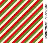 christmas backgrounds diagonal... | Shutterstock . vector #718040680