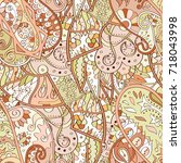 tracery seamless pattern....   Shutterstock .eps vector #718043998