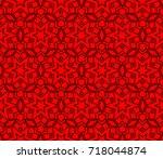 seamless modern vector...   Shutterstock .eps vector #718044874