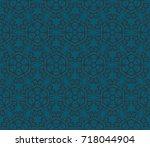 seamless modern vector...   Shutterstock .eps vector #718044904