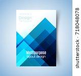 multipurpose layout design.... | Shutterstock .eps vector #718048078