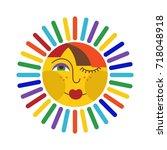 sun icon   Shutterstock .eps vector #718048918