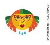girl icon vector   Shutterstock .eps vector #718048930