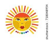 sun icon vector   Shutterstock .eps vector #718048954