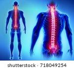 3d illustration of spine   part ... | Shutterstock . vector #718049254