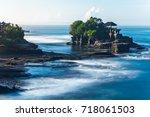 pura tanah lot in the morning ... | Shutterstock . vector #718061503