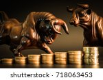 financial investment in bull... | Shutterstock . vector #718063453