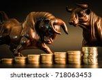 financial investment in bull... | Shutterstock . vector #718063453