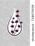 icon with a drop of lavender... | Shutterstock .eps vector #718070539