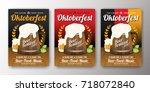oktoberfest beer festival...   Shutterstock .eps vector #718072840