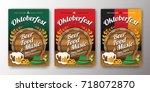 oktoberfest beer festival... | Shutterstock .eps vector #718072870
