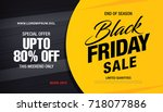 black friday sale banner layout | Shutterstock .eps vector #718077886