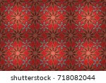 floral watercolor seamless...   Shutterstock . vector #718082044