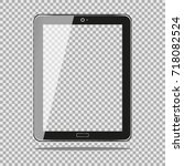 realistic tablet pc computer... | Shutterstock .eps vector #718082524