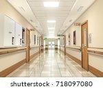 medical concept. hospital... | Shutterstock . vector #718097080