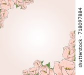 floral greeting card with...   Shutterstock .eps vector #718097884