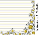 floral greeting card with...   Shutterstock .eps vector #718097890
