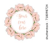 floral greeting card with...   Shutterstock .eps vector #718098724