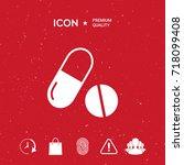 medicines pills   capsule and... | Shutterstock .eps vector #718099408
