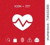 heart medical icon | Shutterstock .eps vector #718102300