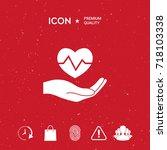 hand holding heart. medical icon | Shutterstock .eps vector #718103338