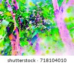 green leaves concept   abstract ...   Shutterstock . vector #718104010