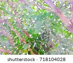 green leaves concept   abstract ...   Shutterstock . vector #718104028
