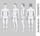human body anatomy  vector man... | Shutterstock .eps vector #718104073