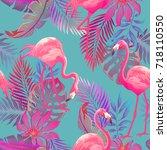 beautiful seamless vector... | Shutterstock .eps vector #718110550