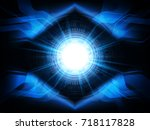 abstract 3d technology concept... | Shutterstock .eps vector #718117828