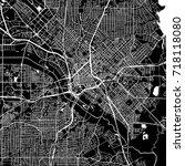 dallas  texas. downtown vector... | Shutterstock .eps vector #718118080