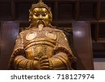 Small photo of HONG KONG - Feburary 27 th 2016 : Che Kung God statue at Che Kung Temple ,Che Kung Temple is a landmark temple and a popular tourist attraction in Hong Kong