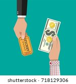 hand holding money and other... | Shutterstock .eps vector #718129306