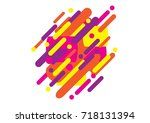 modern abstract background tao... | Shutterstock .eps vector #718131394
