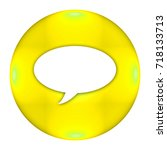 speech bubble button isolated ... | Shutterstock . vector #718133713